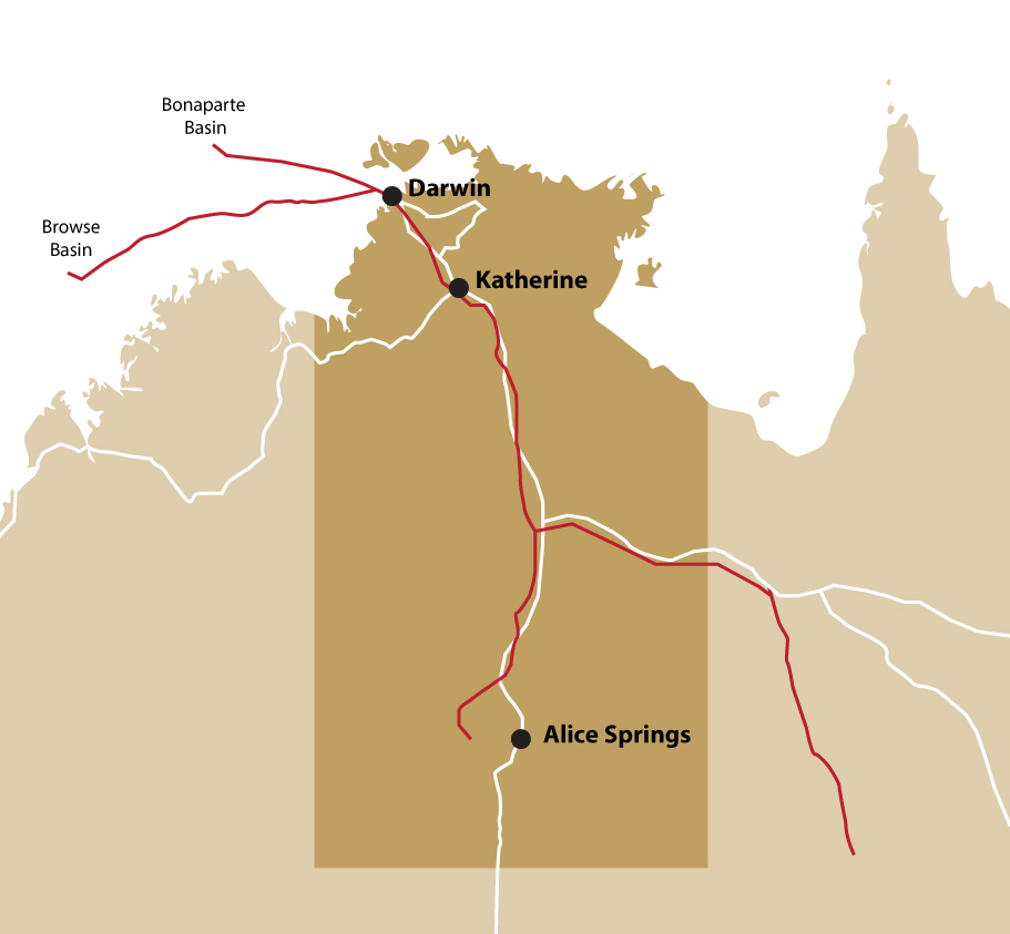 Gas Pipelines in the NT